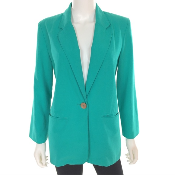 Vintage Jackets & Blazers - SOLD ❌ Vintage 80s Teal Casual Cocktail Blazer 💫